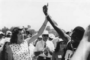 Eunice Kennedy Shriver at Special Olympic Games