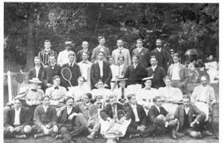 Plate 3. Tennis players at Niagara-on-the-Lake (1896)
