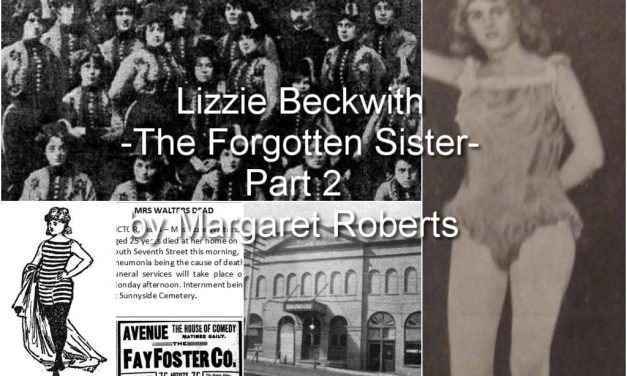 Lizzie Beckwith – The Forgotten Sister – Part 2