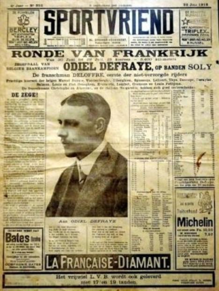 A front page of Sportvriend. Founded in 1909, it was Sportwereld's biggest rival