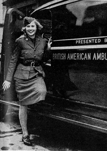 Ambulance Driver in WWII
