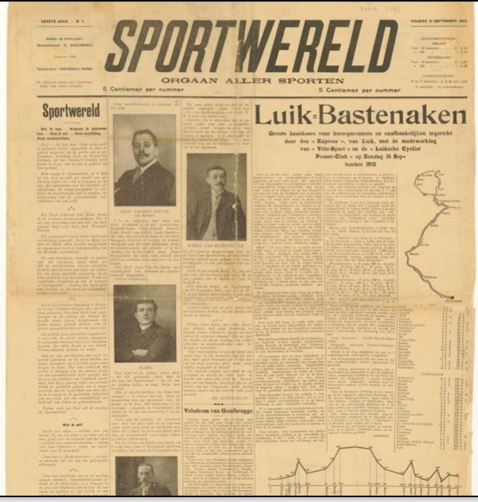 Sportwereld's first ever issue, published on 12 September 1912