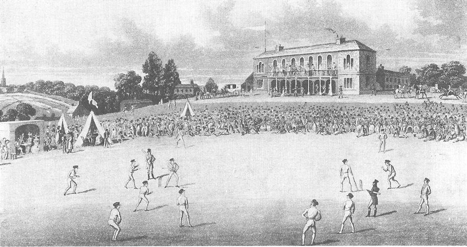 Cricket at Darnall 'New' ground in Sheffield in the 1820s