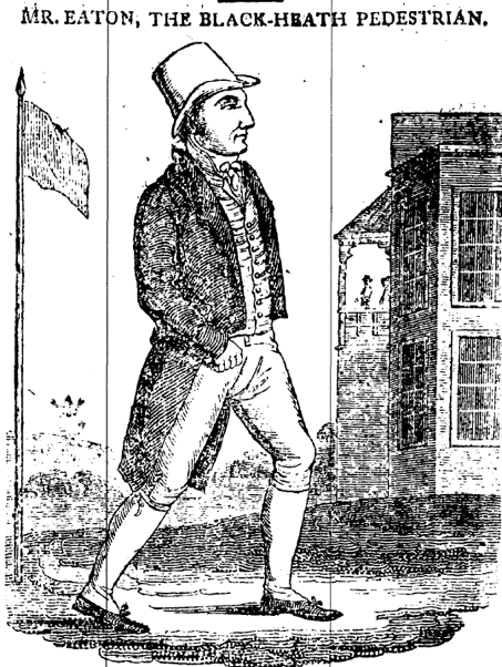 Josiah Eaton walking 1,100 miles at Blackheath (The Star, 17 November 1815)