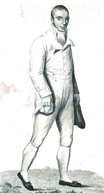 The famous Captain in his walking attire (from Walther Thom, Pedestrianism (Aberdeen, 1813)