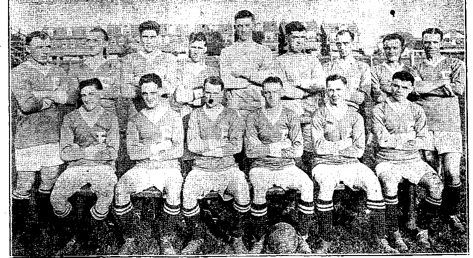 1924 Bethlehem team – showing on the front row far left Alex Jackson and Walter Jackson with the ball at his feet Trenton Sunday Times Advertiser – 3rd February 1924