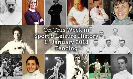 On this Week in Sport and Leisure History ~ Fencing