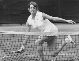 Margaret Court in Action at Wimbledon