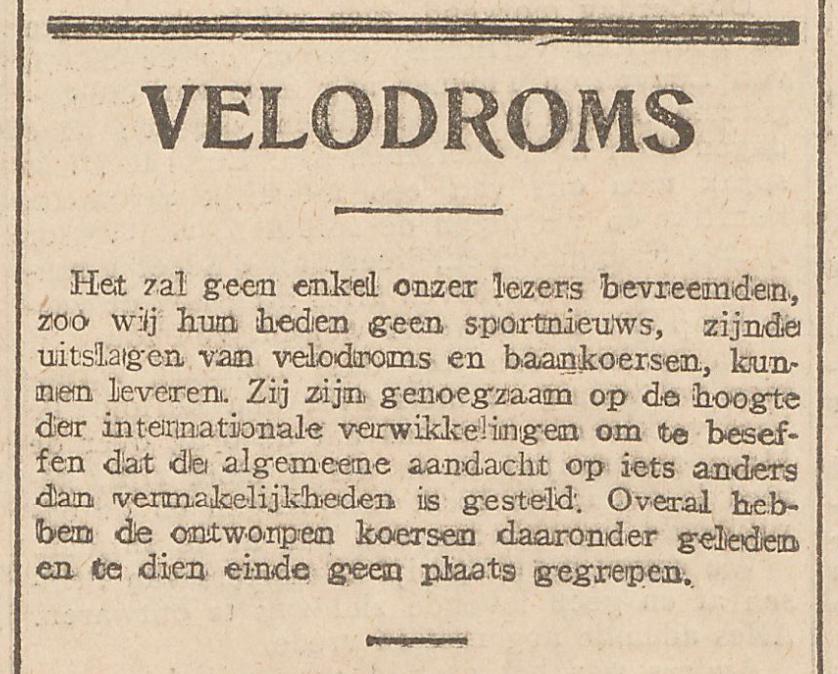 Sportwereld, Augustus 3, 1914