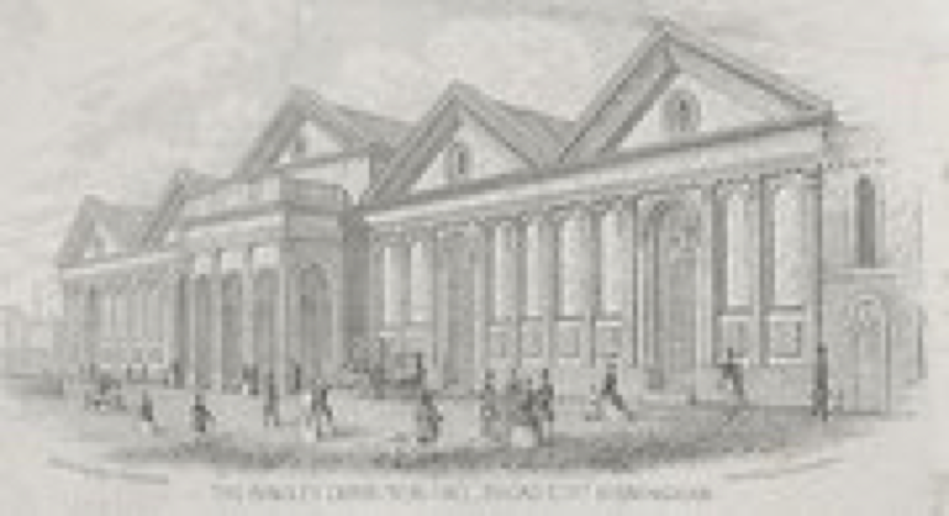 Bingley Hall in 1850s