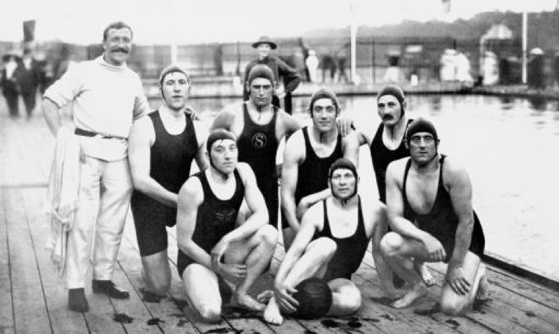 Walter with British Water Polo Team in 1912