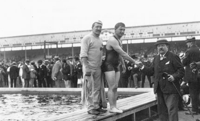 Walter with Henry Taylor at 1908 Games