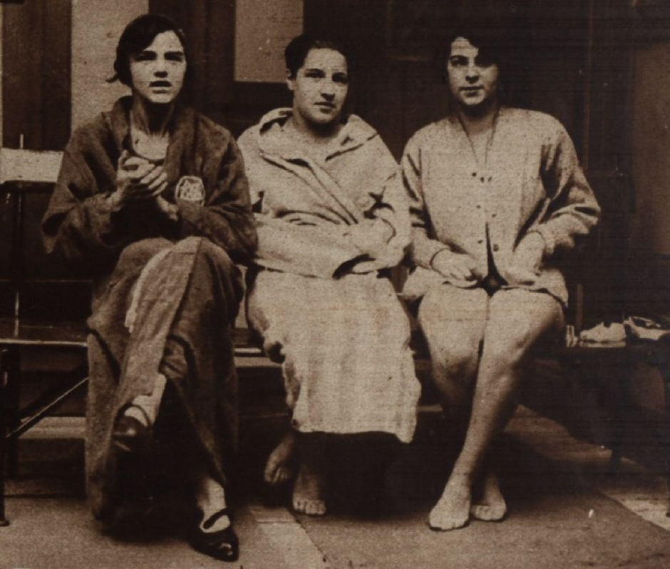 Hedy, Fritzi and Roeders, the first three of Through Vienna 1926