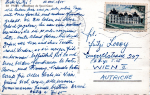 Postcard sent from USA to Fritzi by Hedy and Zsigo in 1955