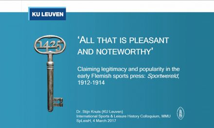'All that is pleasant and noteworthy'. Claiming legitimacy and popularity in the early Flemish sports press: Sportwereld, 1912-1914