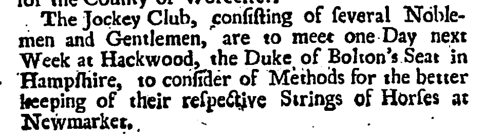 Daily Post, (London) Saturday August 2nd 1729