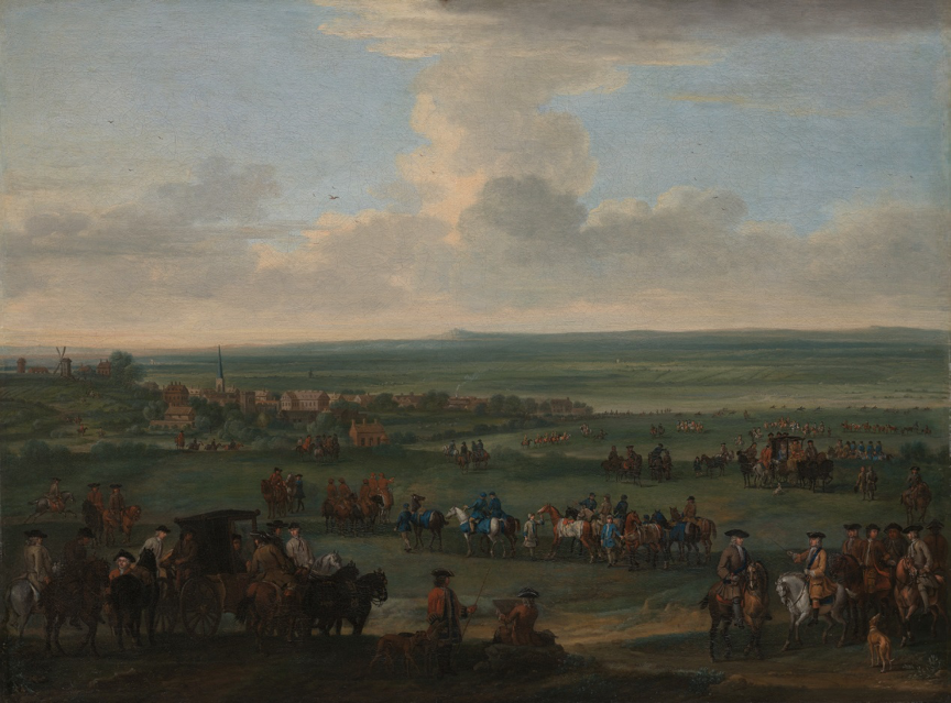 George I at Newmarket, 4 or 5 October, 1717', John Wootton (1682-1764), c.1717 