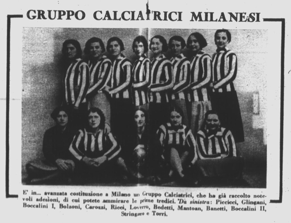 The first photo of GFC (March 1933). Source: Il Calcio Illustrato, 15/03/1933, pp. 8-9.