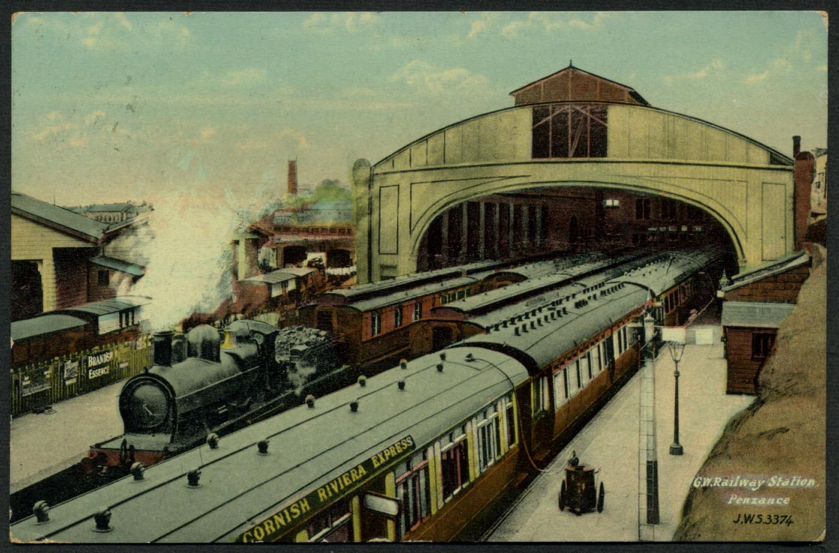 Penzance station 1907