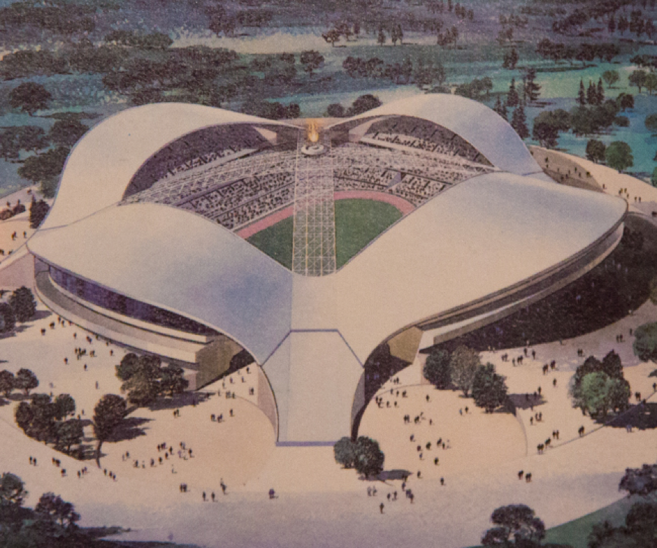 Visual of proposed Olympic Stadium at the NEC for 1992 Bid