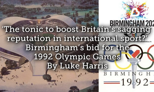 'The tonic to boost Britain's sagging reputation in international sport?' Birmingham's bid for the 1992 Olympic Games