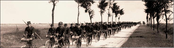 The Belgian karabiner-cyclists (Black Devils)