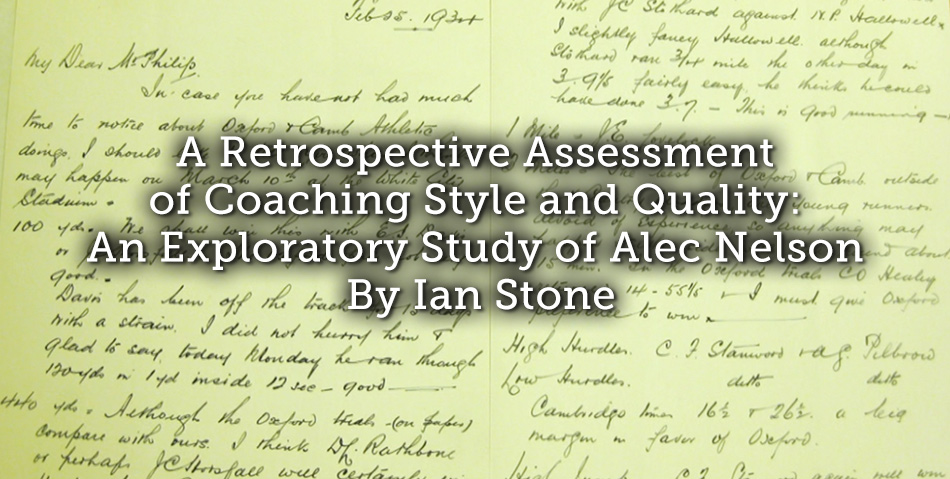A Retrospective Assessment of Coaching Style and Quality: An Exploratory Study of Alec Nelson