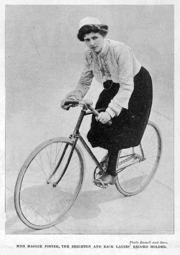Maggie Foster. Source- © British Library Board (The Illustrated Sporting and Dramatic News, 8 March 1902, p. 60)