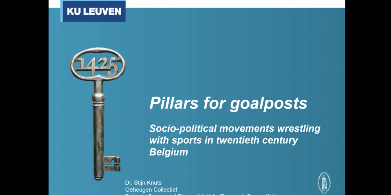 Pillars for goalposts: socio‐political movements wrestling sports in twentieth century Belgium
