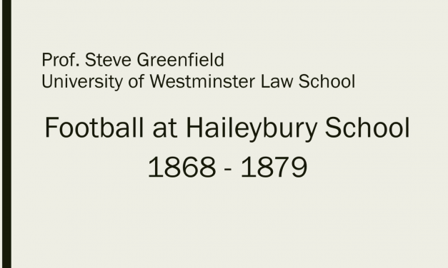 The Organisation and Development of Football at Haileybury School: Rules, Teams and Fixtures​