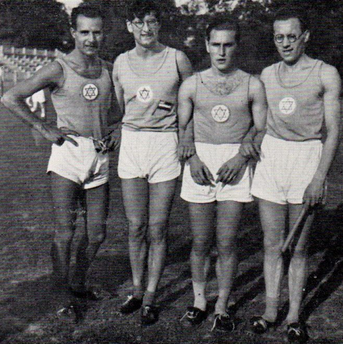 4 x 400 Hakoah 1932 that deprived in 1936 of the victory  left to right - Metzl, Deutscher, König, Klein