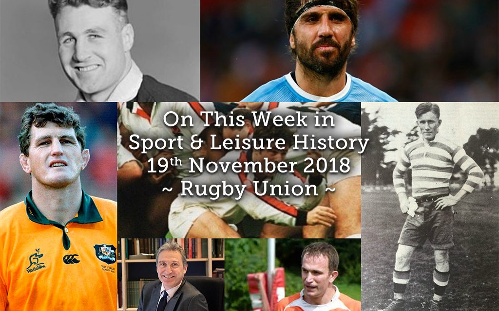 On This Week in Sport History  ~ Rugby Union ~