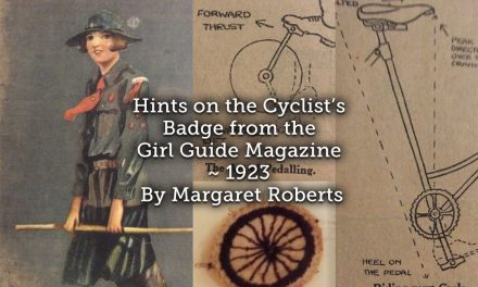 Hints on the Cyclist's Badge from the Girl Guide Magazine ~ 1923