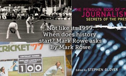 Not Like it's 1999 <br> When Does History Start? Mark Rowe Asks.
