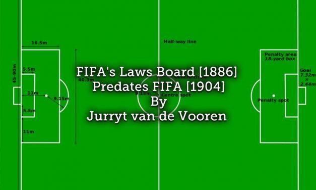 FIFA's Laws Board (1886) predates FIFA (1904)