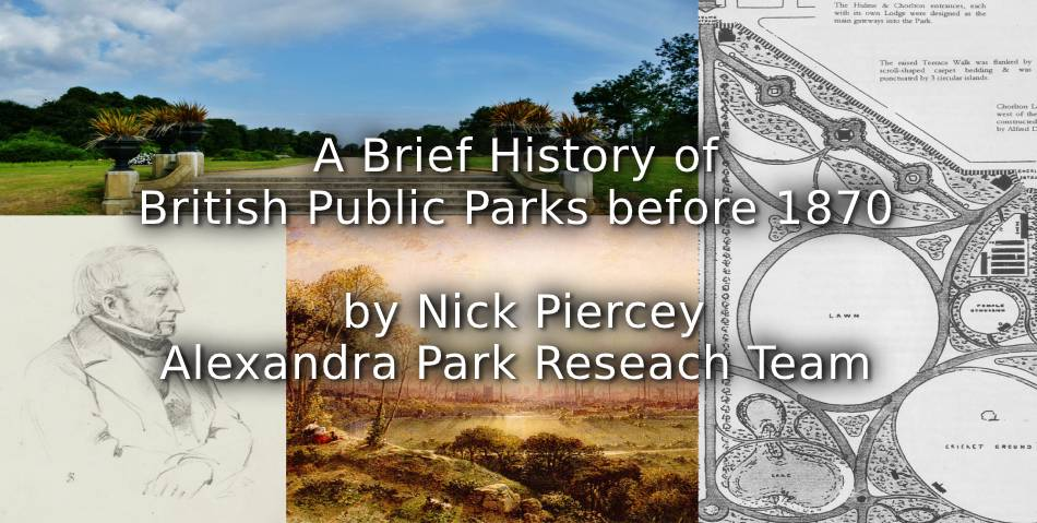 A Brief History of British Public Parks before 1870