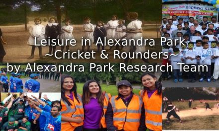 Leisure in Alexandra Park<br>~Cricket and Rounders~