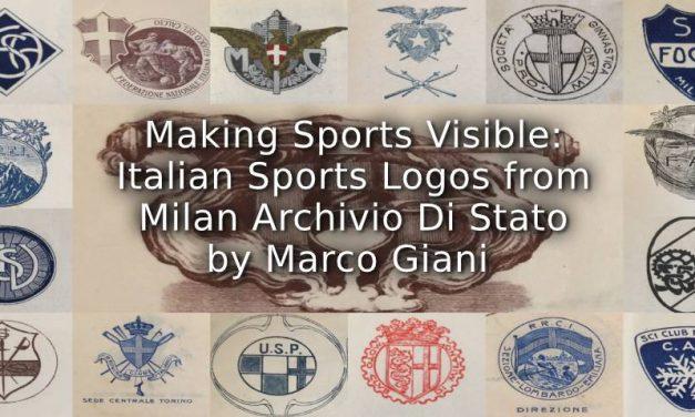 Making Sports Visible: Italian Sports Logos from Milan Archivio di Stato